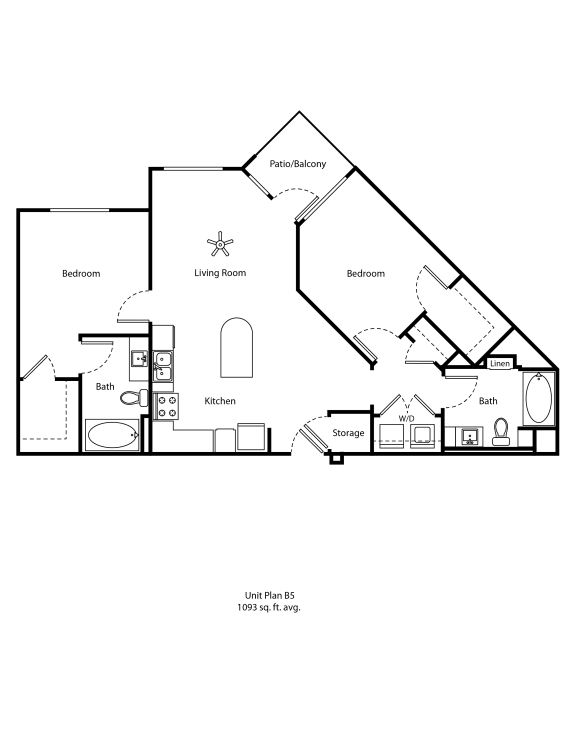 One11_Corona CA_Floor Plan B5_Two Bedroom Two Bathroom