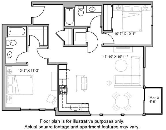 Floorplan at The Whittaker, WA 98116