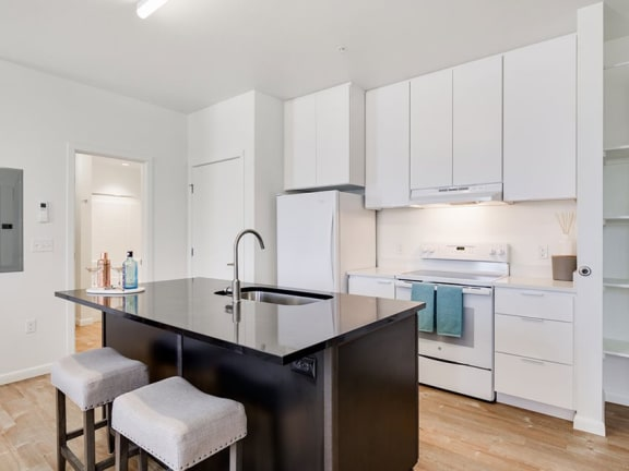 Chef Kitchen at The Watercooler Apartments in Boise, ID 83702