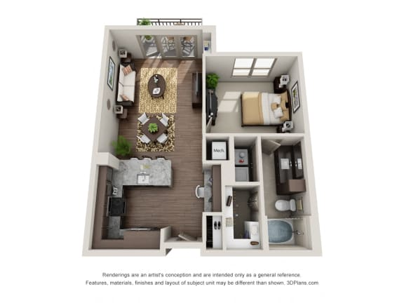 A2-2 Floor Plan at ALARA Uptown, Dallas, Texas
