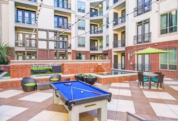 Courtyard Billiards Table at ALARA Uptown, Texas, 75204