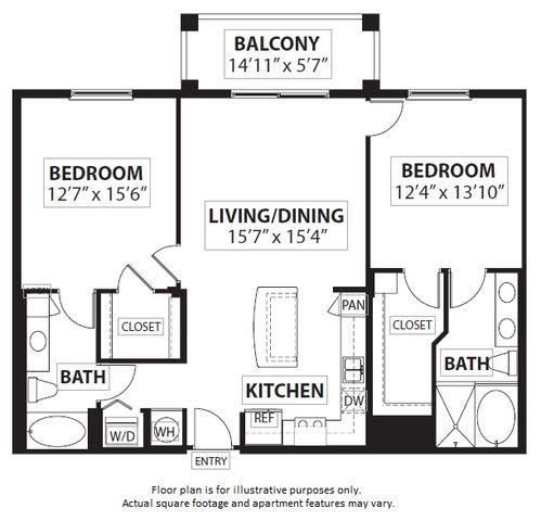 Floor Plan  Floorplan at Windsor at Doral,4401 NW 87th Avenue, FL 33178
