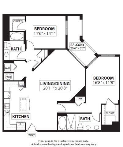 Floor Plan  Floorplan at Windsor at Doral,4401 NW 87th Avenue, Miami,FL 33178