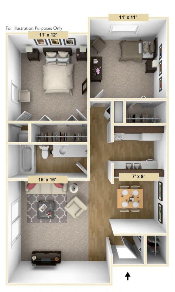 Floor Plan  Devonshire Two Bedroom Floor Plan at Windsor Place, Davison