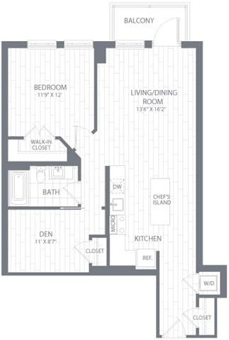 A2 Floor Plan at Element 28, Bethesda, Maryland