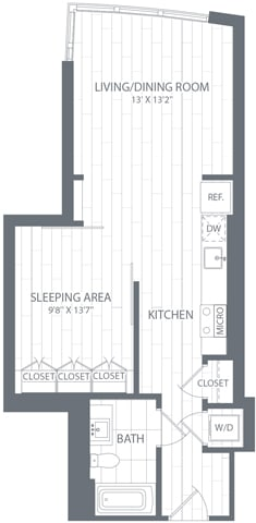 S1 Floor Plan at Element 28, Maryland, 20814