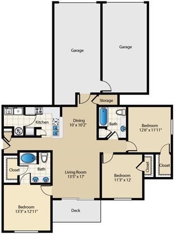 Carnton Floor Plan at Wyndchase at Aspen Grove, Franklin, Tennessee