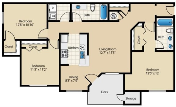 Cottonwood Floor Plan at Wyndchase at Aspen Grove, Tennessee, 37067