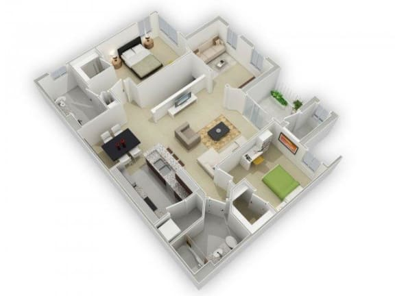 Floor Plan  The Dawson Floorplan at Algonquin Square Apartment Homes, Algonquin, IL 60102