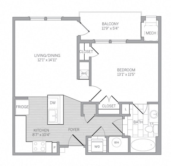 A1 Floor Plan at AVE Newtown Square, Newtown Square, Pennsylvania