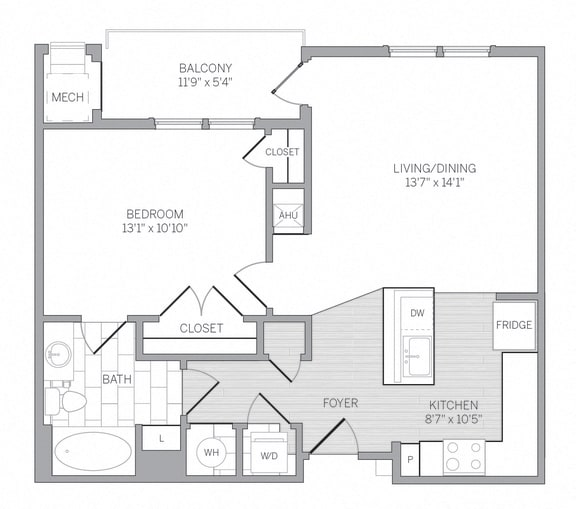 A2 Floor Plan at AVE Newtown Square, Newtown Square, PA, 19073