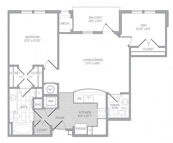 A2D Floor Plan at AVE Newtown Square, Newtown Square