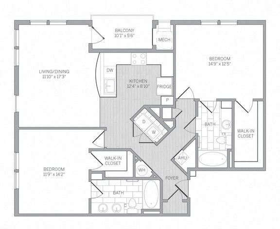 B5 Floor Plan at AVE Newtown Square, Pennsylvania