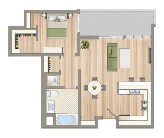 Floor Plan  1440_Unit_E_206,306,406,506,606
