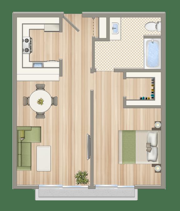 Floor Plan  Luxe@1430_7th_unit_D1