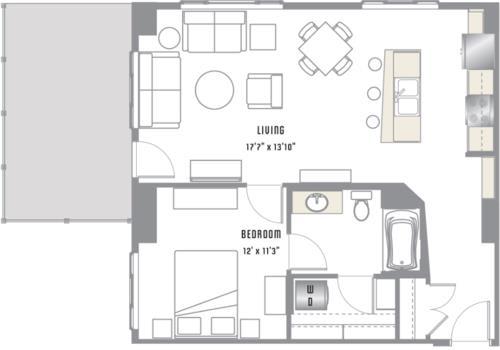 A4 Floor Plan at 2020 Lawrence, DENVER