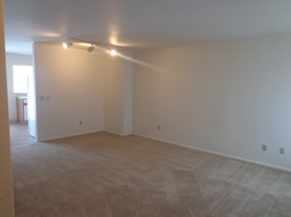 Carpeted Living Area at Arbor Pointe Townhomes, Battle Creek, Michigan
