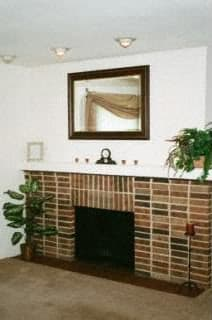 Living Room Remodel With Fireplace at Candlewyck Apartments, Kalamazoo, Michigan