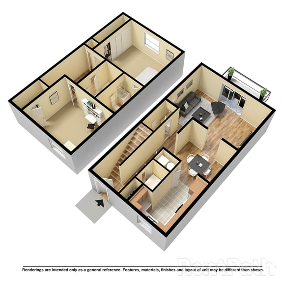 2 BR 2.5 Bath Townhome at Country Lake Townhomes, Indianapolis, Indiana