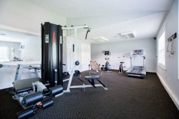 Free Weights and Cardio Equipment at Sandstone Court Apartments, Greenwood, IN, 46142