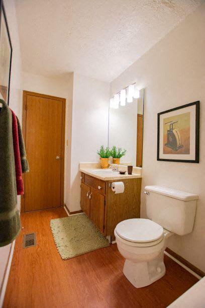 Upgraded Bathroom Fixtures at Sandstone Court Apartments, Greenwood, 46142
