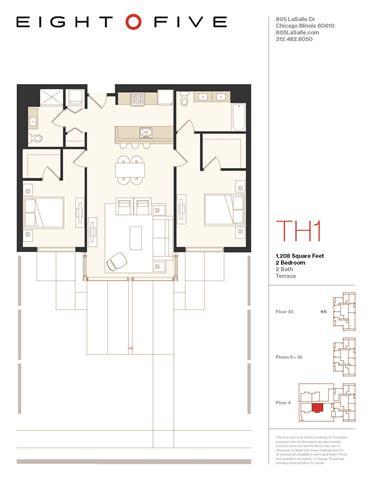 D2TW2 Floor Plan at Eight O Five, Illinois