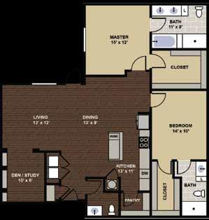Berkeley Floor Plan at Berkshire Dilworth, Charlotte, 28204