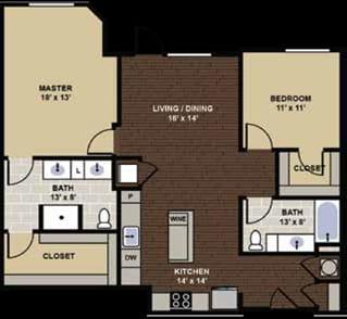 Caldwell Floor Plan at Berkshire Dilworth, Charlotte