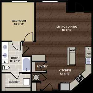 Cleveland Floor Plan at Berkshire Dilworth, North Carolina, 28204