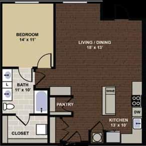 Cumberland Floor Plan at Berkshire Dilworth, Charlotte, NC, 28204