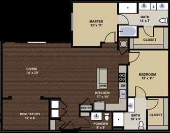 Filmore Floor Plan at Berkshire Dilworth, Charlotte, 28204