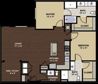 Isleworth Floor Plan at Berkshire Dilworth, Charlotte, North Carolina