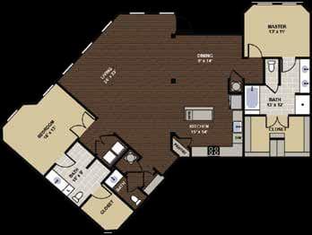 Olmstead Floor Plan at Berkshire Dilworth, North Carolina