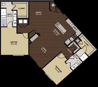 Templeton Floor Plan at Berkshire Dilworth, Charlotte, NC, 28204