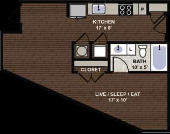 Winthrop Floor Plan at Berkshire Dilworth, Charlotte, 28204