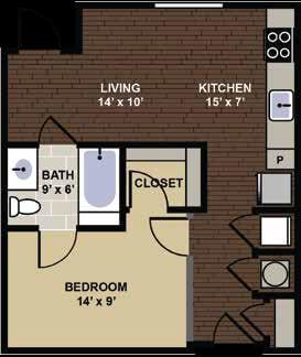 Worthington Floor Plan at Berkshire Dilworth, Charlotte, North Carolina