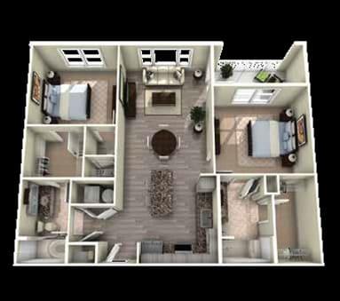 Grandover Floor Plan at Berkshire Main Street, Durham, 27705