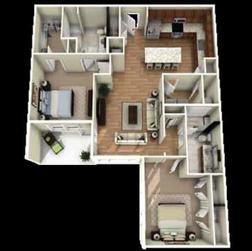 Grove Floor Plan at Berkshire Main Street, Durham