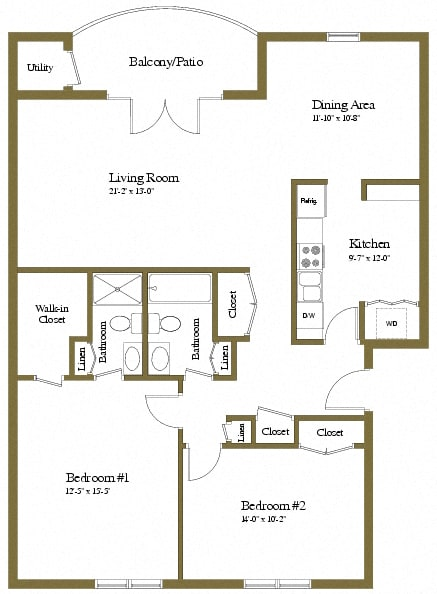 The Brittany 2 Bedroom Luxury Apartment
