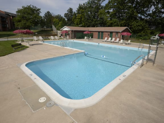 Private swimming pool at Liberty Gardens Apartments and Townhomes