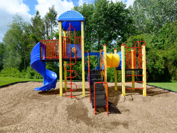 New playground with slide
