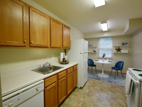 Bright, Eat-In Kitchens at Woodridge Apartments, Randallstown, MD