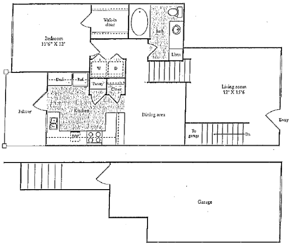 Floor Plan  D Floorplan at Marquette at Preston Park, Plano, TX, 75093