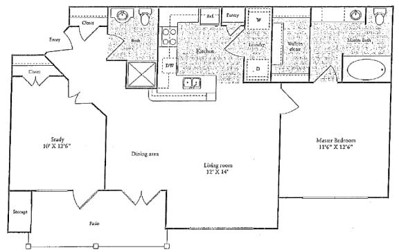 Floor Plan  C Floorplan at Marquette at Preston Park, Plano, TX, 75093