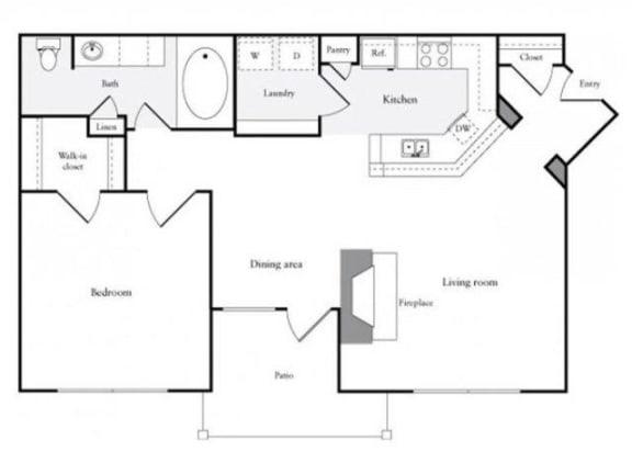 Floor Plan  A Floorplan at Marquette at Preston Park, Plano, TX, 75093
