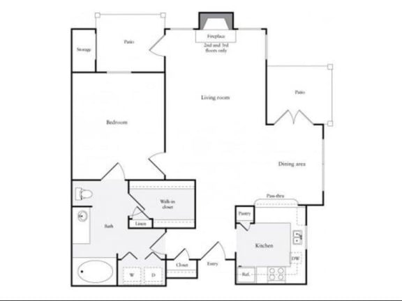 Floor Plan  B Floorplan at Marquette at Preston Park, Plano, TX, 75093