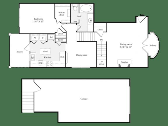 Floor Plan  E Floorplan at Marquette at Preston Park, Plano, TX, 75093