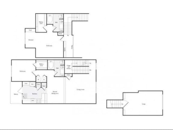 Floor Plan  H Floorplan at Marquette at Preston Park, Plano, TX, 75093