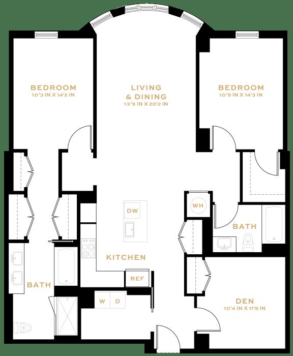 Floor Plan  BD01 Den