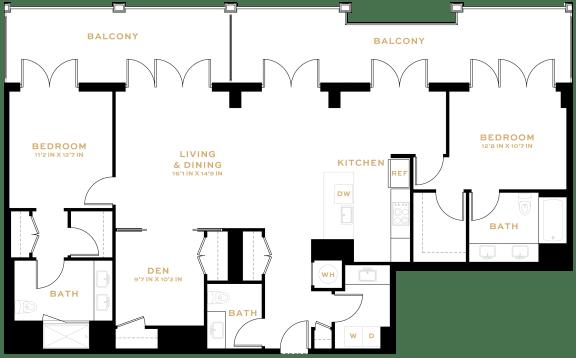 Floor Plan  BD02 Den
